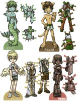 CFP teamgood paperdolls by wulfmune