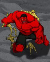 redhulk colored by Anny-D