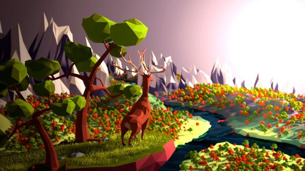 Low Poly Valley by killcanos