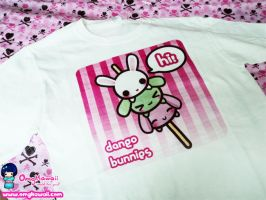 .+ Dango Bunnies T-shirt $20+. by tobi2moodring