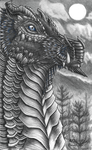 Black Dragon Doodle (Fully Rendered) by ebonobiwon