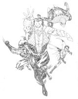 Namor and his allies by SpiderGuile