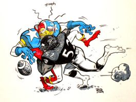 RAY RAY vs. NFL SUPER PRO by JasonLatour