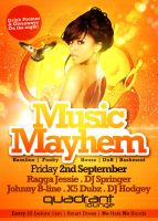 Music Mayhem Flyer by danwilko