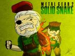 The battle between Solid Snake and Big Boss by arthurfernandes