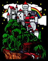 Fuzzy Poster Castle by Karoyence