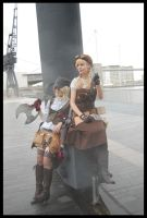 Steampunk: Gen and Aurora by mtani
