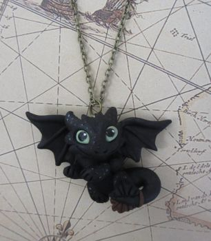 Toothless (HTTYD) Night Fury Necklace by rude-and-reckless