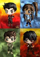Shiny Avatar Chibis by IcyPanther1