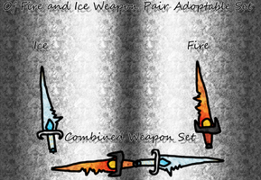 'Of Fire + Ice' Weapon Adopt Set (Auction) CLOSED by ShadowhawkArt