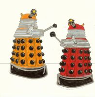 Progenitor Daleks, Colored by sonickingscrewdriver