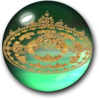 City In Green Glass Bubble by hypnogoddess