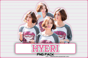 [PNG PACK] Hyeri (Girl's Day) by babykidjenny
