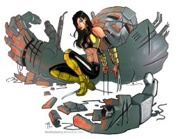 X-23 Sentinel battle aftermath by timothylaskey
