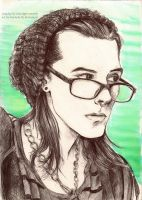 Hipster Loki (Drawn from Cosplay) by BowieKelly
