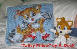 Tailsy Pillow by Milayou
