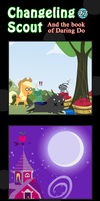 Changeling Scout And The Book Of Daring Do 27 by vavacung