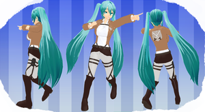 MMD Attack on the titans Outfit by MMD3DCGParts