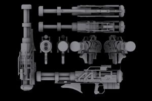 Halo 3 Rocket Launcher Concept by martynball
