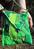 Recycled Fabrics Forest Bag by Faeriegem
