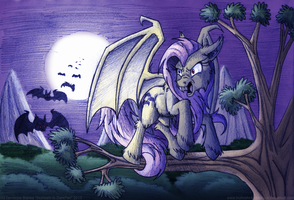 Night of the Flutterbat by InuHoshi-to-DarkPen