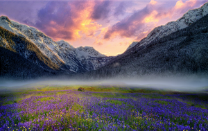 Sunset in the mountains by Li-Ihu