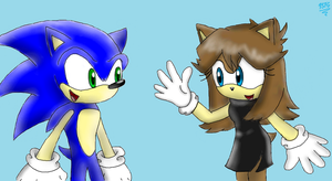 Meeting Sonic by PokeSonFanGirl