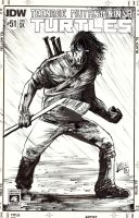 Casey Jones TMNT sketchcover commission by Shawn-Langley