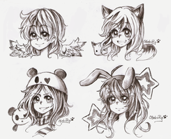 Floating Heads Commish #3 by OtakuPup