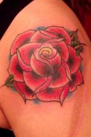 Red Rose by IAteAllMyPaste