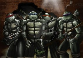 Ninja Turtles - there back! by Martin-Saelens