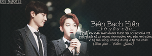 [ EXO Quotes | 1st project ] ChanBaek 4 by Emilybbz