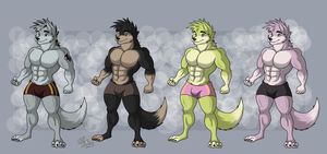 Wolf male adoptable by RatchetJak