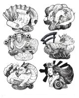 Japanese Mythology by megillakitty