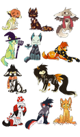 Too Spoopy for you adopts *OPEN* by Samooraii