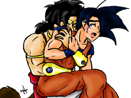 Commission: Broly and Goku by Doggy-Yasha