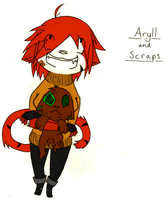 Aryll and Scraps by XenMetalWolf