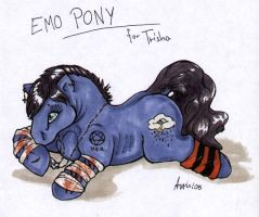 emo pony by balorkin