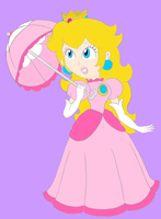 Peach Holding Parasol by RafaelMartins