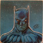 Batman post-it sketch  by ChawliePawpit
