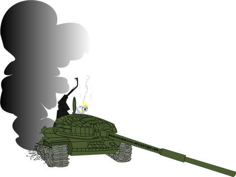 Derpy inside tank T-72Sim1 by mercenario1945