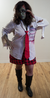 Zombie School Girl by Angelic-Obscura