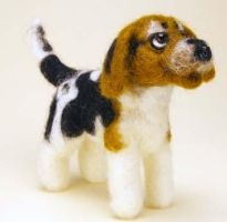 Needle Felted Beagle by The-GoblinQueen