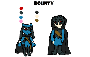 Bounty's Reference and gijinka by Dustyfootwarrior