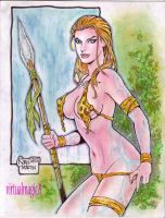 JUNGLE GIRL art by RODEL MARTIN by rodelsm21