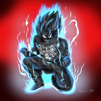 Symbiote goes Goku by Rene-L