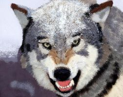 MS Paint Wolf by eegcmnaes