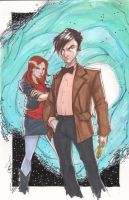 The Doctor and Amy by Hodges-Art