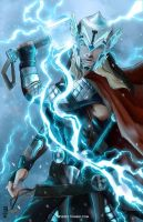 Thor God of Thunder by Corverez