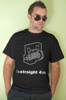 Straight 4 you t-shirt by EDL by EDLdesign